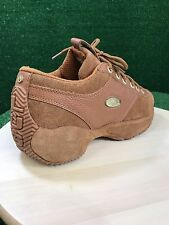 Lugz Leather Shoes Spell Out Back Casual Walking Lace Up tan Men's 7.5M