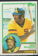 Tarjeta de béisbol Topps 1983-no 7-gen Richards-Padres