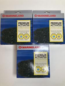 X3 (6) MarineLand Premium Activated Carbon Bags Chemical Filtration in Aquariums