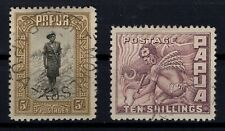 P130999/ BRITISH PAPUA NEW GUINEA / SG # 143 - 144 USED CV 227 $