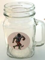 Washington Redskins John Riggins Mason Jar Mug-16oz-Free team lapel pin 4 caps