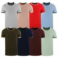 Brave Soul Tallon Mens T Shirt Retro Short Sleeve Crew Neck Casual Top
