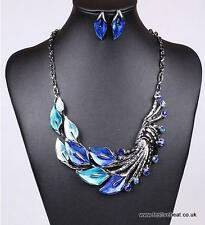 Black metal jewelry set christmas xmas party necklace earring Asian jewellery
