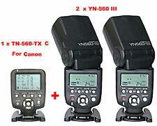 Yongnuo YN560-TX C  Wireless Flash Controller for Canon + 2 Pcs YN-560III Flash