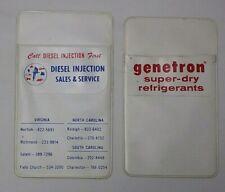 2 Vintage Pocket Protector Genetron Diesel Injection