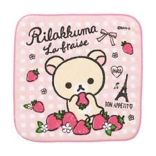 San-X Rilakkuma hand towel / Face Towel Strawberry in Paris CM58402 24c46
