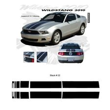 Ford Mustang 2010-2012 w/ Lip Wildstang Dual Stripe Graphic Kit - Gloss Black