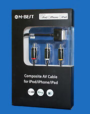 Cavo AV composito al televisore Kit di connessione RCA per iPod iPad 2/3, iPhone 4/4s 3gs