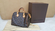 Authentic Louis Vuitton M41528 Monogram Speedy 25 Hand Bag Brown SD3173