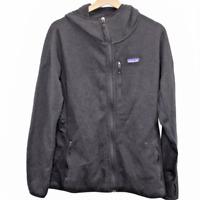 H159 Patagonia Capilene Full Zip Sweater Jacket Black Women's Size XL