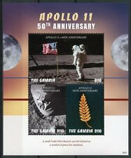 Gambia 2018 MNH Apollo 11 Moon Landing 50th Anniv 3v M/S Space Stamps