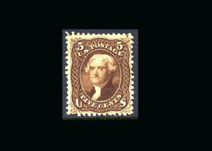 US Stamp Mint Original Gum Hinged, VF S#76a  The black/brown color variety