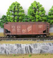HO Scale Custom Painted Weathered Train CB&Q Burlington Route Hopper Car