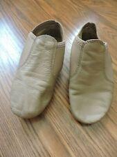 Capezio Jazz Girls Shoes Tan Leather Upper Split Sole Size 13.5 M