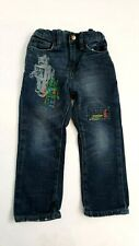 BOYS BABY GAP 1969 BLUE JEANS WITH ROBOTS SIZE 4 YRS