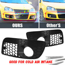 2x Honeycomb Open Vent Fog Light Grille Grilles For VW MK5 GTI GLI Jetta