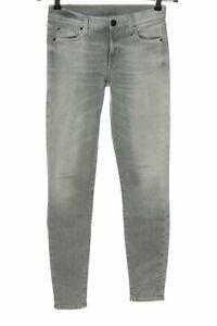 7 FOR ALL MANKIND Stretch Jeans hellgrau Casual-Look Damen Gr. DE 30