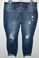 Torrid Premium Stiletto Jegging Stretch Jeans Womens Size 18S Blue Meas. 36x23.5