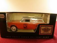 """1955 SEDAN DELIVERY BANK """" HARLEY DAVIDSON """" DIECAST 1/24 SCALE COIN BANK W/KEY"""