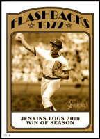 Fergie Jenkins 2021 Topps Heritage 5x7 Baseball Flashbacks Gold #BFB-FJ /10 Cubs