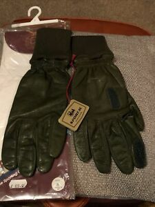 Gent's mens Chester jefferies 'the Gamesman' leather gloves size 8 Sportac G15