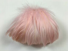 NOS vintage millinery hat goose feather pompom trim 4559 waterfall effect ltpink