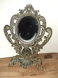 Miroir ancien pivotant sur pied
