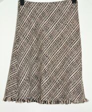 Wallis Woven Winter Skirt size 12 Elasticated pull-on size 12 A-line lined Wool