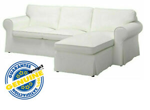 IKEA EKTORP (3-Seat) Loveseat Sofa w/Chaise COVER Vittaryd White 903.217.56 NEW!