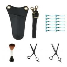 Salon Hair Cutting Thinning Scissors Section Clips Neck Duster Brush Holder