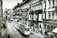 """uralte Photo-AK, Karl-Marx-Stadt (Chemnitz), 11 Poststraße zum Kaufhaus """"Tietz"""""""