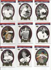 2002 Upper Deck WORLD SERIES HEROES set 1-90 RUTH MANTLE GEHRIG & Boston Red Sox