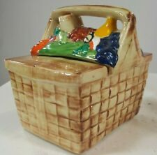 Vintage Cookie Jar Picnic Basket McCoy 1960's Collectible