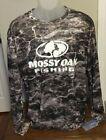 Mossy Oak Fishing Charcoal Gray Camouflage Long Sleeve T Shirt Size Large NWT