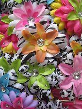 LOT of 10 FLOWER CLIPS Alligator Hair Barrettes Girls Baby RANDOM PICK GRAB BAG