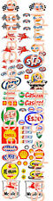 1/64 GAS AND OIL WATER-SLIDE DECALS FOR HOT WHEELS, MATCHBOX, SLOT CAR: