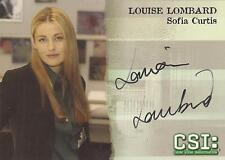 "CSI Series 3 - A7 Louise Lombard ""Sofia Curtis"" Autograph Card"