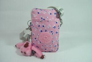 New With Tag Kipling TALLY Mini Crossbody Phone Bag KI1079 - Painterly Dots pink