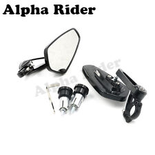 "Motorcycle CNC 7/8"" 22mm Bar End Rearview Mirror For Honda GROM MSX 125 Yamaha"