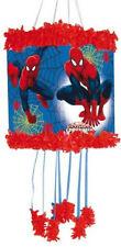 Ultimo Spiderman Pull Filo Piñata & Benda per Bambini Compleanno Festa Game