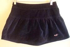 skirt small s mini short blue velvet casual 3 school girl tiny womens hollister