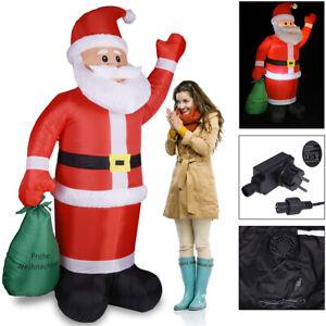 Weihnachtsmann aufblasbar XL 180cm LED beleuchtet Deko Weihnachten Nikolaus