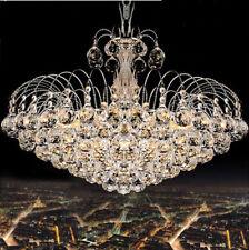 Luxury Rain Drop Clear K9 Crystal Chandelier Ceiling Lights with 6 Bulb Holders