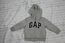 Baby Gap Toddler Hoodie Full Zip Long Sleeve Grey Cotton Blend Size 2 Years