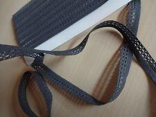 Gummiband,Gummilitze ,Wäschegummi,Gummi Spitze in dunkel grau 3mx10mm (0,83€/m)