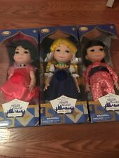 Disney Store It's a Small World singing dolls Lot Of 3 France Holland And Japan