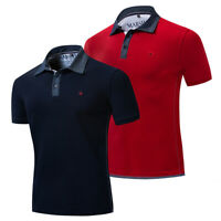 New Fashion Men Classic Polo Shirt Short Sleeve Cotton T Shirt with Embroidered