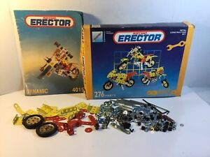 Erector Set Toy Motorcycle Construction Set 4015 With Instructions Building Fun