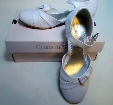 Christie & Jill Girls Size 2M CJ Vallory White Ankle strap Shoes