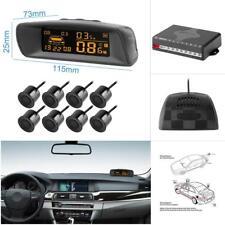 8 Parking Sensors Car Reverse Backup Rear Radar System Kit LCD Sound Alarm 12V